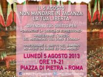Volantino Manifestazione 5 Agosto 2013